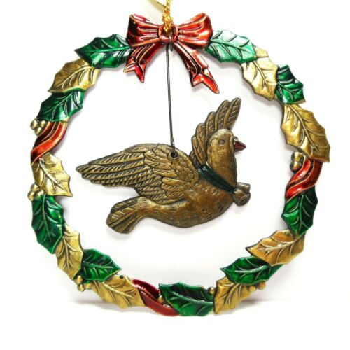Christmas Ornament Metal Dove Vintage Russ The Heirloom Collection