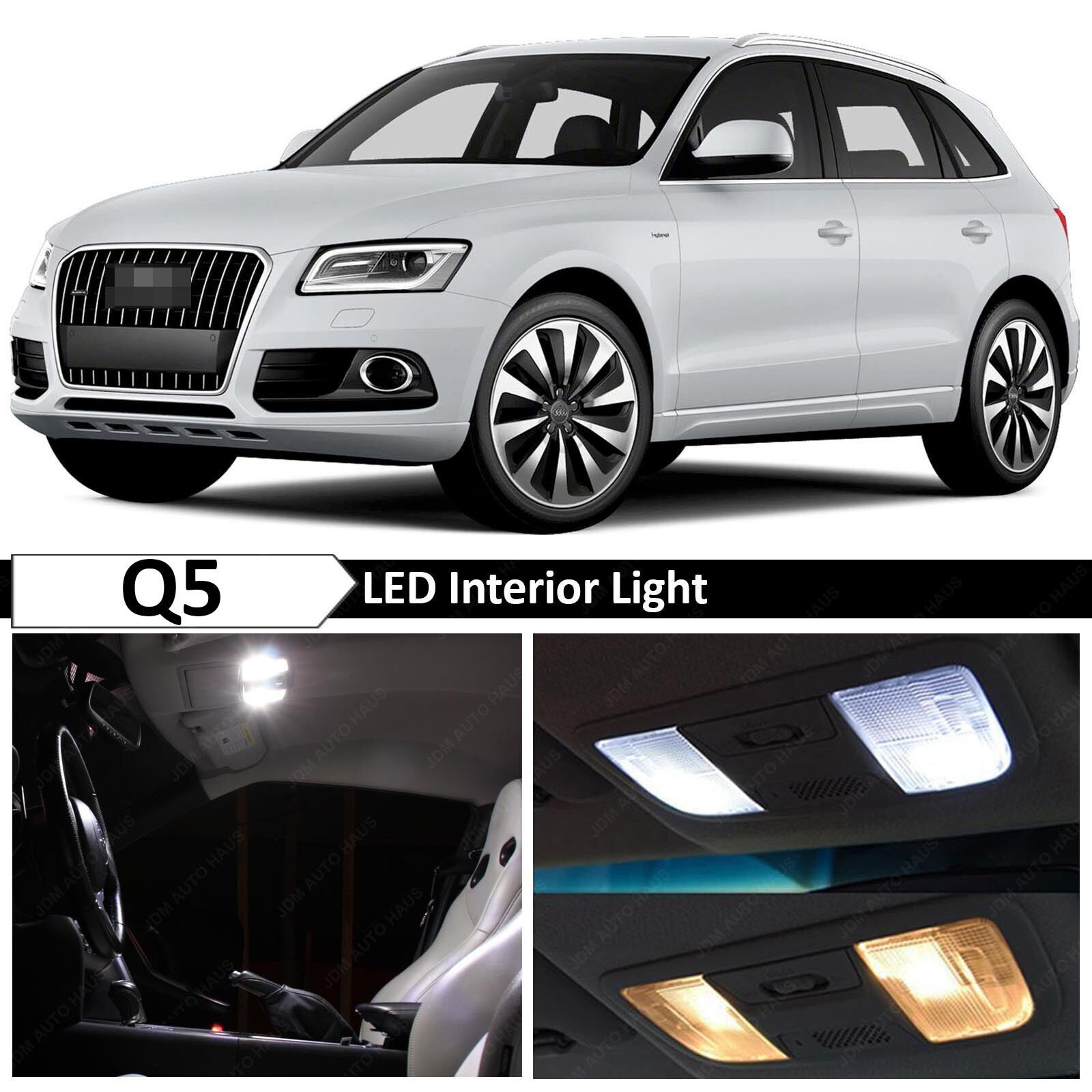 22x White Interior LED Lights Package Kit For 2008-2015