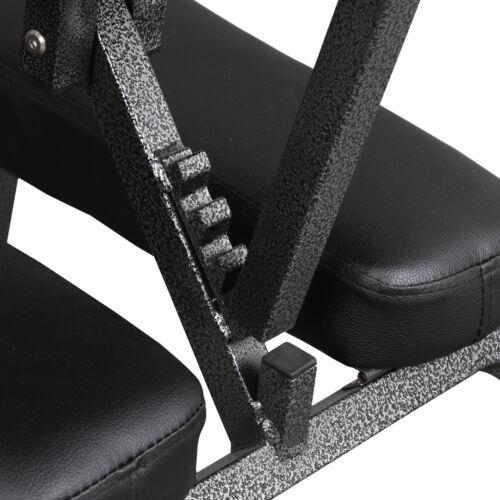 Portable PU Leather Pad Travel Massage Tattoo Spa Salon Massage Chair Black Health & Beauty