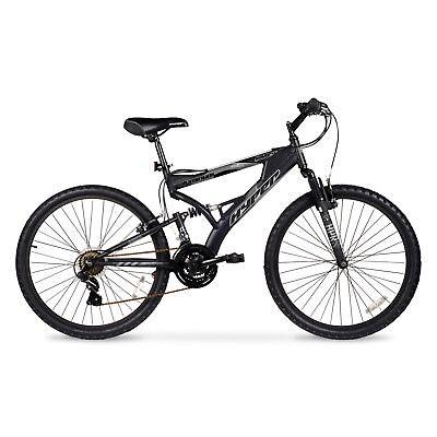 f646b2ea5a6 Mens Mountain Bike Bicycle 21 Speed Shimano Aluminum Full Suspension Black  26