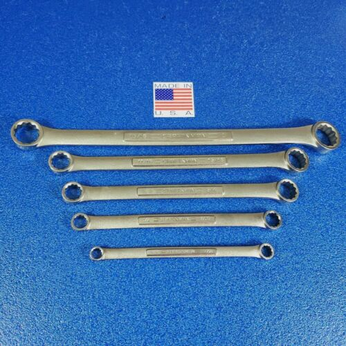 5pc CRAFTSMAN USA NEW OLD STOCK BOX END WRENCH LOT VɅ & VV FORGE CODE FREE SHIP