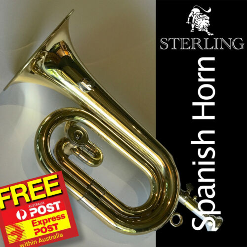 STERLING SWBG-010 Spanish Horn Trumpet • With Case • Valved Bugle • FREE EXPRESS
