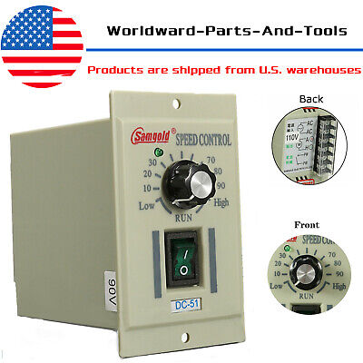 Ac 110v 400w Knob Motor Speed Controller Dc-51 Dc 0-90v Adjust Lathe Control