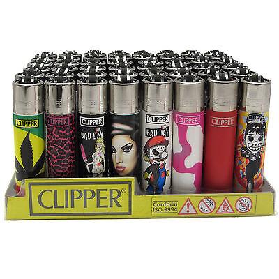 Clipper Feuerzeuge Mix ständig ca.250 diverse Motive an Lager [gem.1 - 48 Stück]