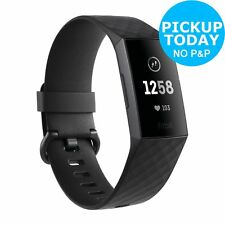 Fitbit Charge 3 Fitness Tracker - Graphite Black.