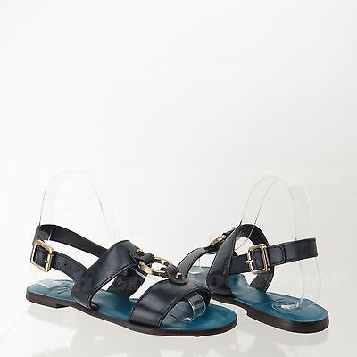 Tory Burch Sandals Women's Navy Shoes With Ring Studs Size 5.5 NEW! RTL $295