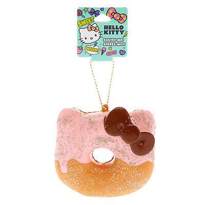 HELLO KITTY SQUISHY HALF STRAWBERRY CHOCOLATE DONUT KEYCHAIN Sanrio Squish Pink (Hello Kitty Chocolates)