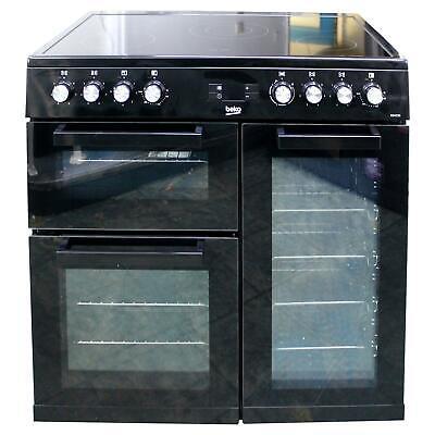 Beko KDVC90K 90cm Electric double oven range cooker  Black #2613