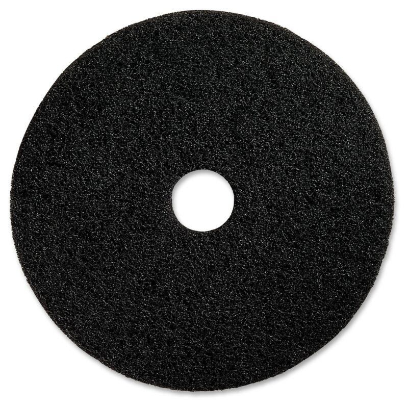 "Genuine Joe 17"" Black Floor Stripping Pad - (5 PerCarton) Black"
