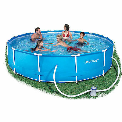 "Bestway Steel Pro Frame 12ft x 30"" Swimming Pool with Filter Pump BW56062"