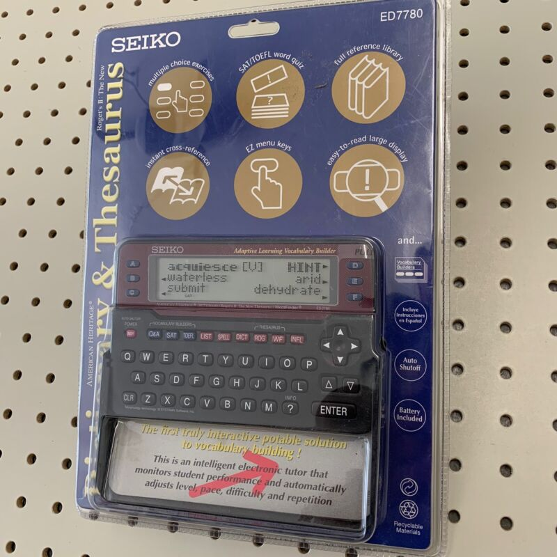 Seiko ED7780 Handheld Dictionary and Thesaurus New Sealed