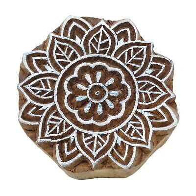Indian Wood Stamps Floral Stamp Hand Craved Printing Block Textile Stamp-pb1071