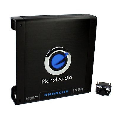 Planet Audio 1500 Watt Mono Block Car Audio Amplifier with R