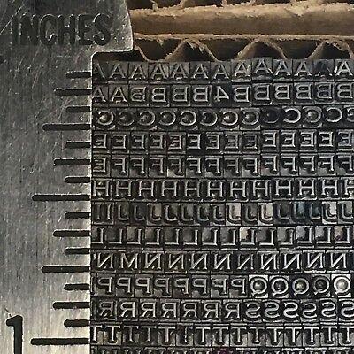 Copperplate 6 Pt - Letterpress Type - Vintage Printers Lead Metal