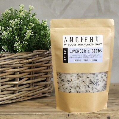 Himalayan Bath Salt Blend 500g - Relax. Essential oils and lavander seeds