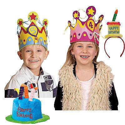 THDAY * als Hut oder Minihut zum Geburtstag Kindergeburtstag (Happy Birthday Hut)