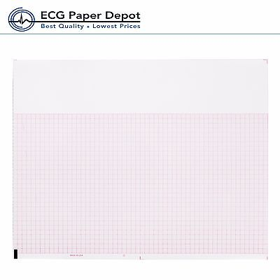 Ecg Ekg Thermal Paper For Mortara Ecg Machines Z-fold Red Grid 12 Pads Per Case