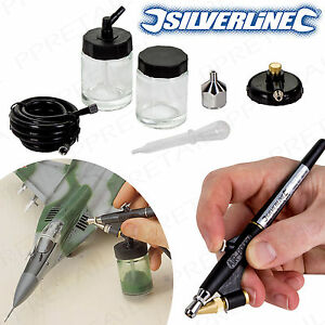 AIR BRUSH KIT Mini Spray Gun Artist/Craft Hobby PRECISE Model Painting 15-30psi