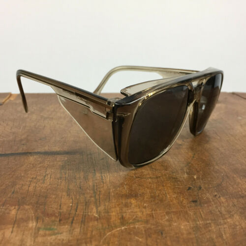 Vintage 70s 80s CREWS Tinted Sunglasses Safety Glasses Goggle Frames Engineer