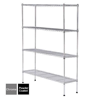 55x36x14 Heavy Duty 4 Tier Wire Shelving Rack Steel Shelf Adjustable 2 Colors