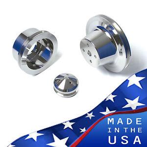 Chrysler BB Aluminum Pulley Kit 383 440 Hemi V-Belt 1V