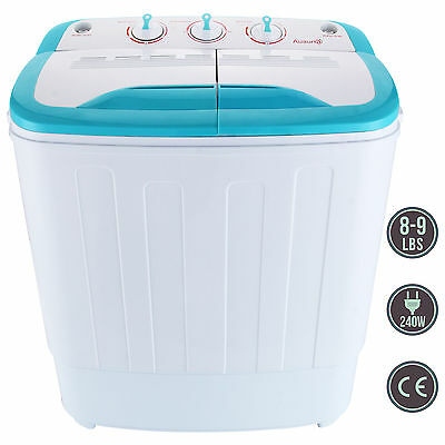 غسالة ملابس جديد Portable Mini RV Dorm Compact 8-9lbs Washing Machine Washer Spin Dryer Laundry