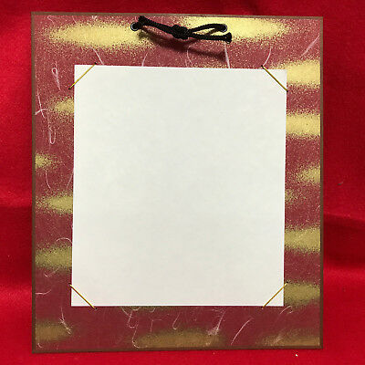 "The frame to display ""Shikishi"" paper/ The japanese design /Red&Gold color/NEW"