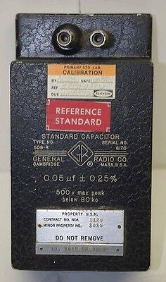 General Radio Standard Capacitor Type 509-r 0.05 Uf