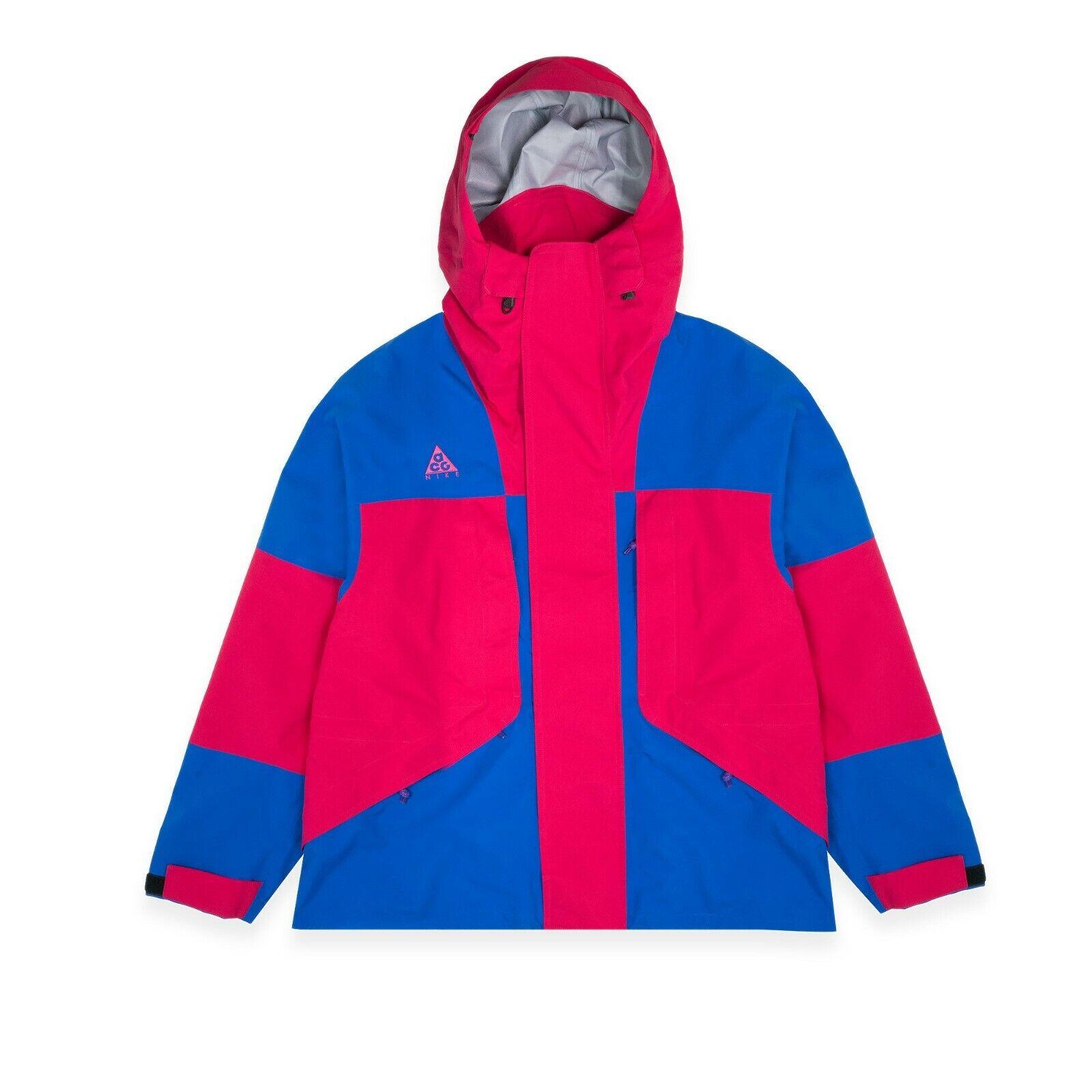 Nike ACG GORE-TEX Jacket Blue Rush Pink  Men's Size SMall