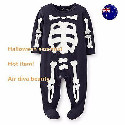 en Skull Skeleton Carter's Party Costume Romper Bodysuit  (Skull Kid Costume)