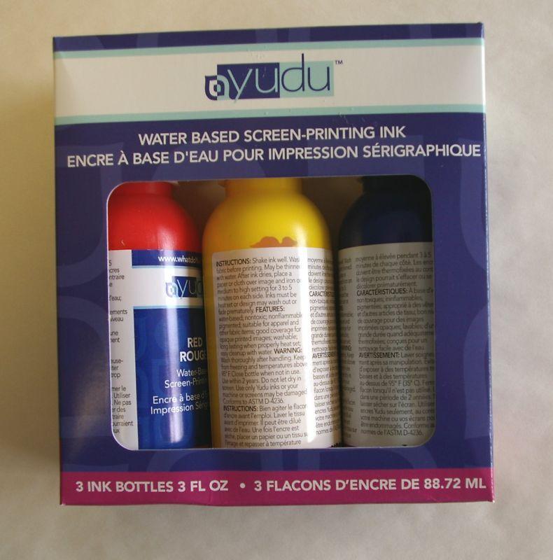 3 pc Yudu Screen Printing Ink 3 oz Select Color Set
