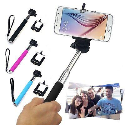 Black Extendable Selfie Stick With Adjustable Holder for Motorola Moto x⁴ z² g⁵