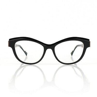 """CAROLINE ABRAM """"Penelope"""" Black Frame Cat Eye Prescription Eye Glasses"""