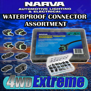 NARVA 56450 WATERPROOF CONNECTOR ASSORTMENT KIT, MALE & FEMALE CAR ELECTRICAL