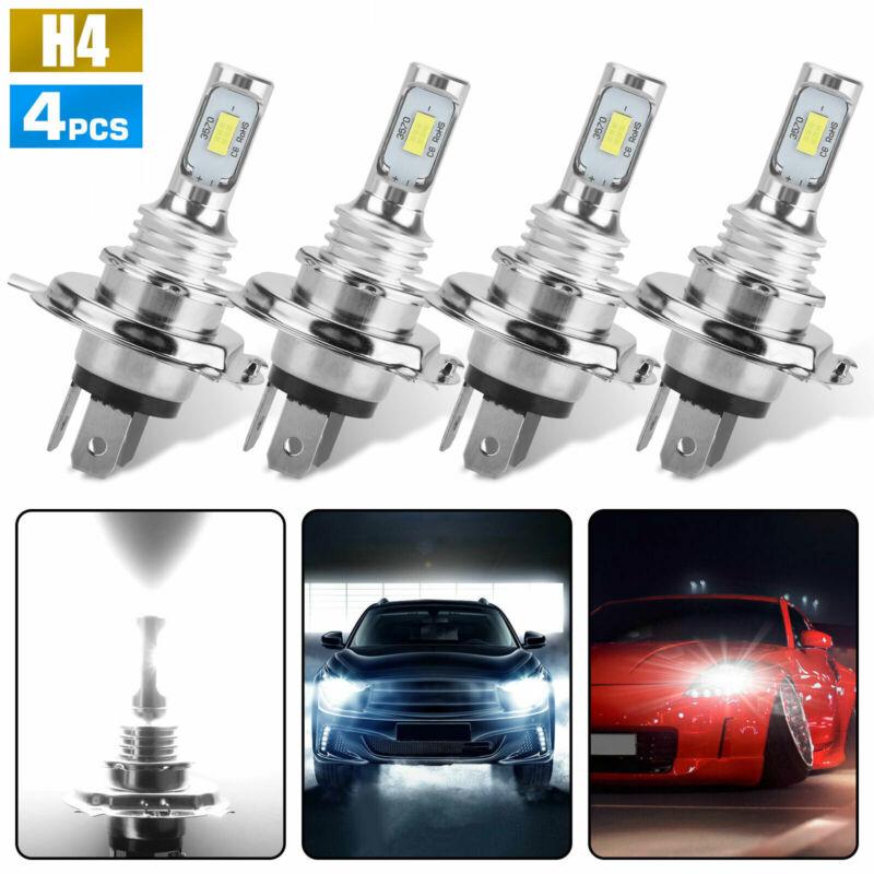 4X 9003 H4 LED Headlight Bulb Kit High Low Beam Super Bright 100W 28000LM 6000K