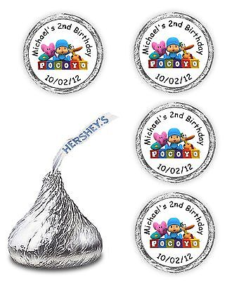 108 Pocoyo Birthday Party Candy Kisses Labels Favors Wrappers Stickers Supplies