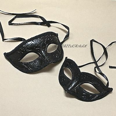 Halloween Engagement Party ( His Her Venetian Glitter Ball Masquerade Mask Engagement Halloween Party)