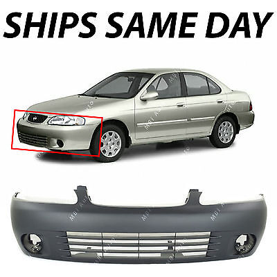New Primered - Front Bumper Cover Fascia for 2000-2003 Nissan Sentra Sedan -