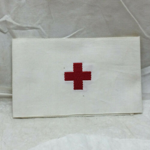 Vintage Embroidered Red Cross Band