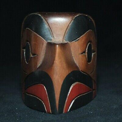 North West Coast SMALL Signed Eagle  Mask - Cedar wood - Native American