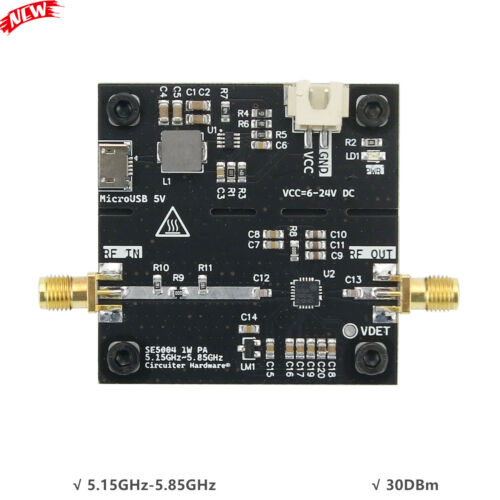 SE5004 1W Microwave Power Amplifier RF Power Amplifier 5.15GHz-5.85GHz 30DBm