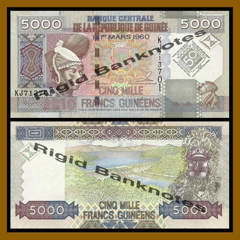 Guinea 5000 (5,000) Francs, 2010 P-44 Unc