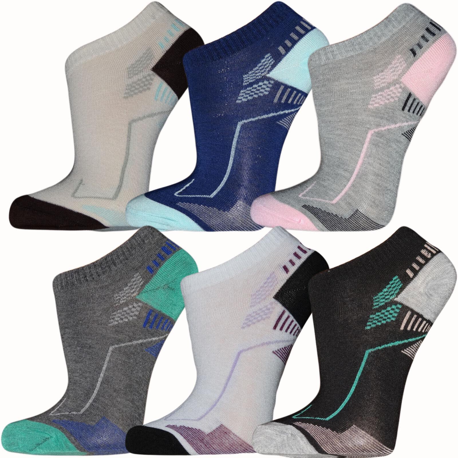 12-36 Paar Damen Socken Paket Füßlinge Sport Sneaker Söckchen Kurzsocken Mädels