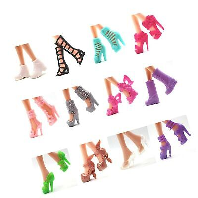 Suriel 60 Pairs Different High Heel Shoes Boots Accessories For Barbie Doll - $23.99