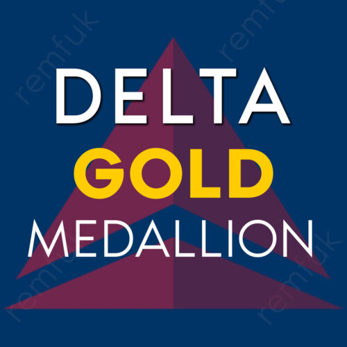 Delta GOLD Medallion Status Tip / SkyTeam Elite Plus / Seat Upgrade