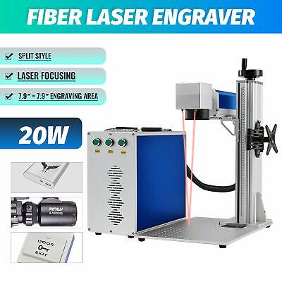 20w Raycus Fiber Laser Marking Machine 7.9 X 7.9 For Metal Engraver Marker