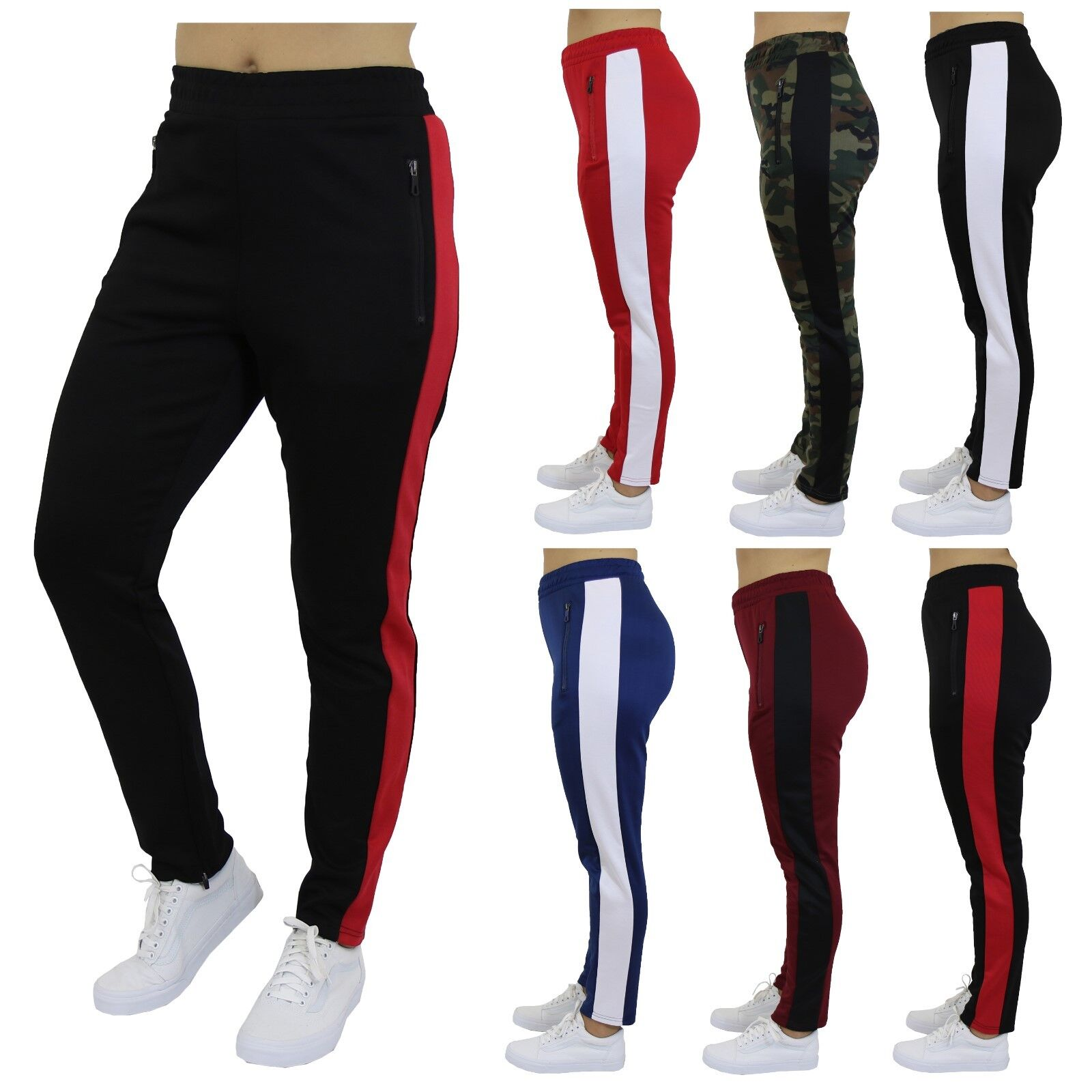 Womens Track Jogger Sweatpants Running Stripe Active Sports Lounge Gym Yoga NEW Clothing, Shoes & Accessories
