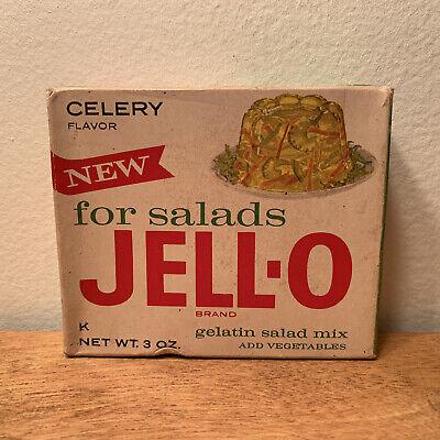 Vintage 1950's Jello RARE CELERY FLAVOR Unopened Full Box Midcentury For Salads