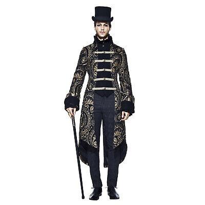 Adult Men's Steampunk Victorian Gothic Vampire Halloween Costume Coat Jacket - Mens Gothic Halloween Costumes