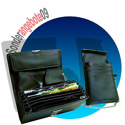 KELLNERBÖRSE Kellnertasche Geldbörse mit Holster + Kette Portemonnaie Portmonee
